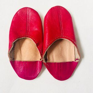 Infant Moroccan Babouche Leather Slippers